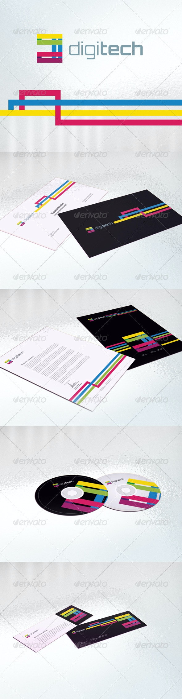 Digitech Identity Package - Stationery Print Templates