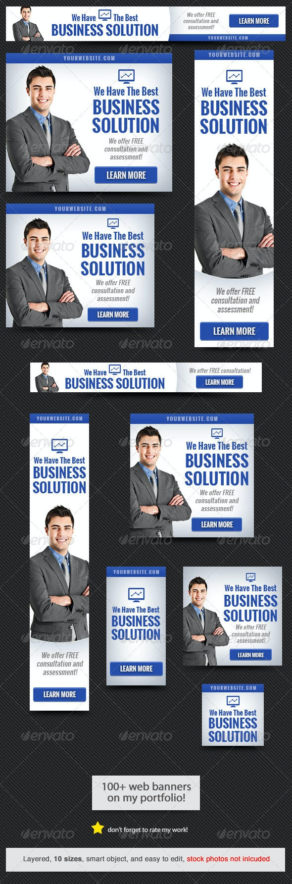 Corporate Web Banner Design Template 49 - Banners & Ads Web Elements