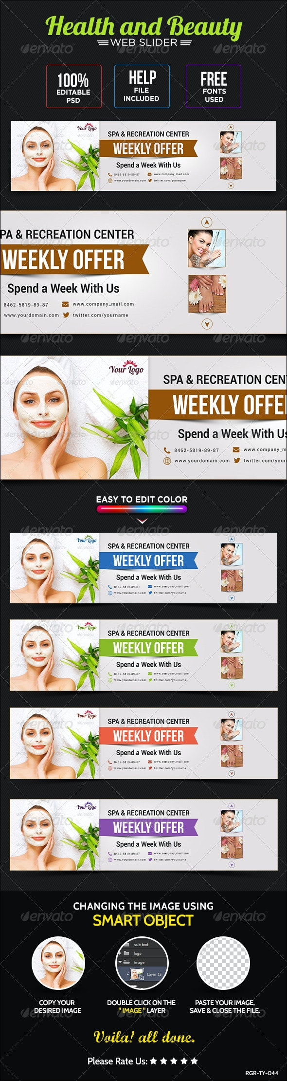Health & Beauty Sliders - Sliders & Features Web Elements