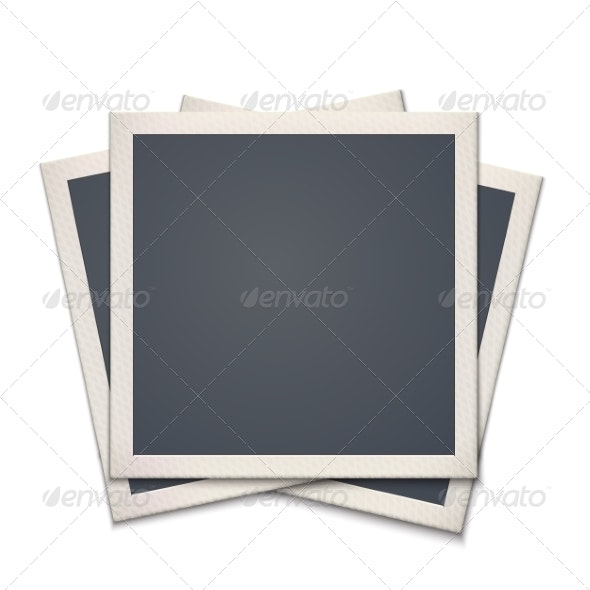 Blank Retro Photo Frame - Borders Decorative