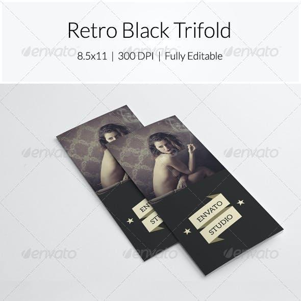 Retro Black Trifold