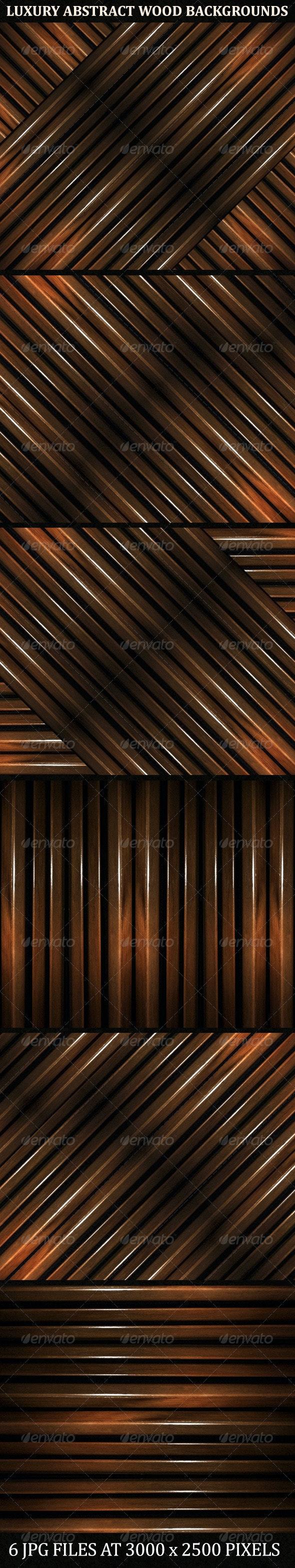 6 Luxury Abstract Geometric Wood Backgrounds