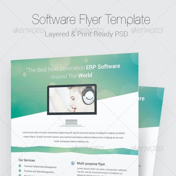 Modern Software PSD Flyer Template