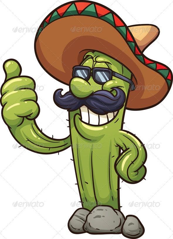 Mexican Cactus - Characters Vectors