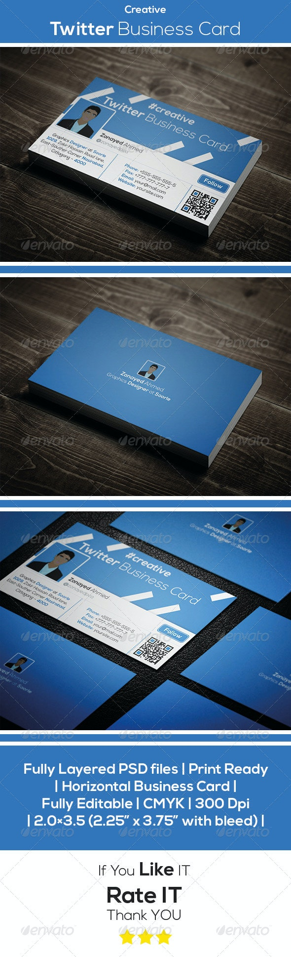 Creative Twitter Business Card - Creative Business Cards