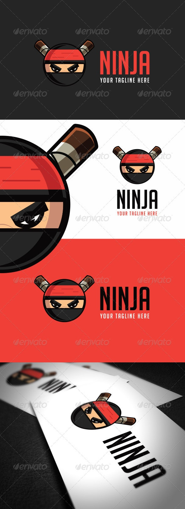 Ninja Logo Template - Vector Abstract