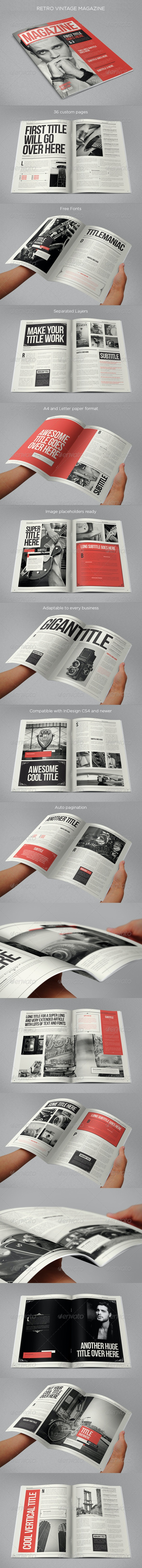 Retro Vintage Magazine - Magazines Print Templates