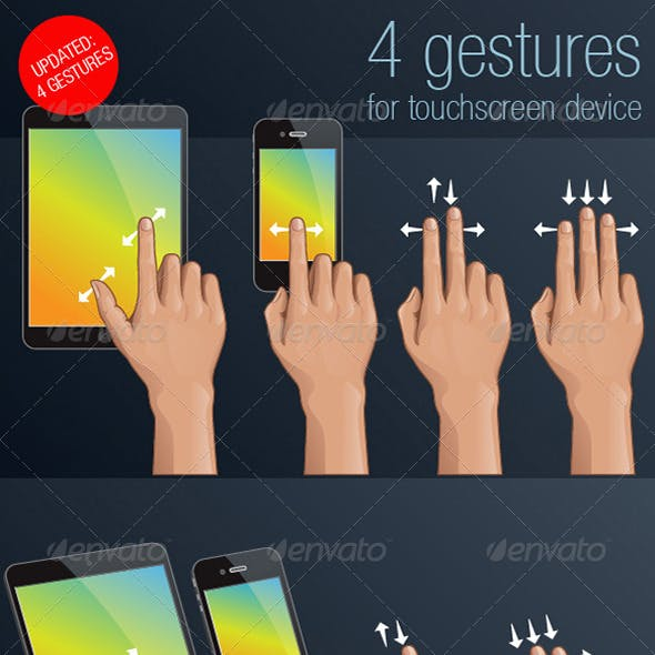 4 Gestures for Touch Screen Device