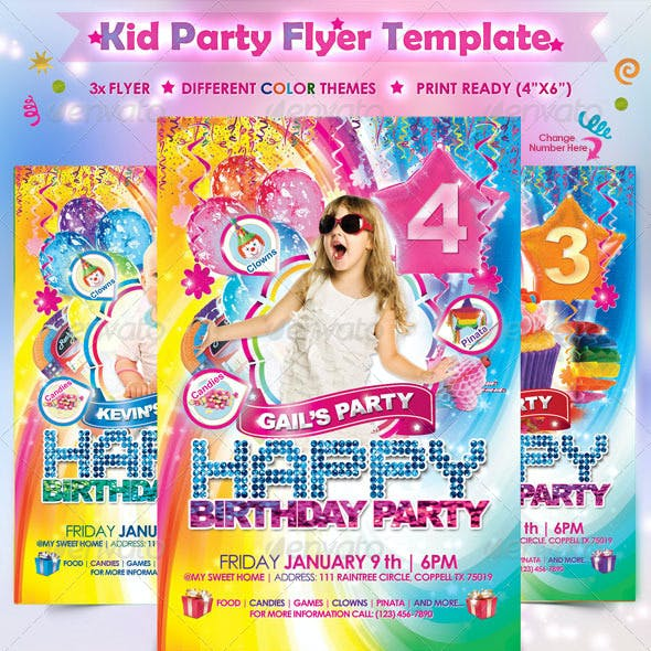 Babies Kids Birthday Party Template