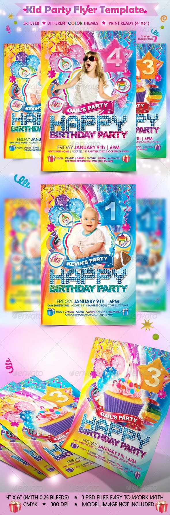 Babies Kids Birthday Party Template - Clubs & Parties Events