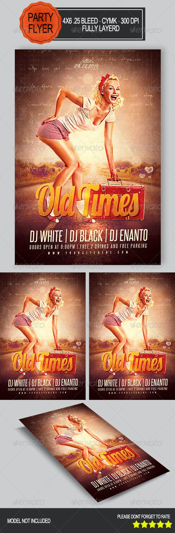 Old Times Flyer   - Clubs & Parties Events
