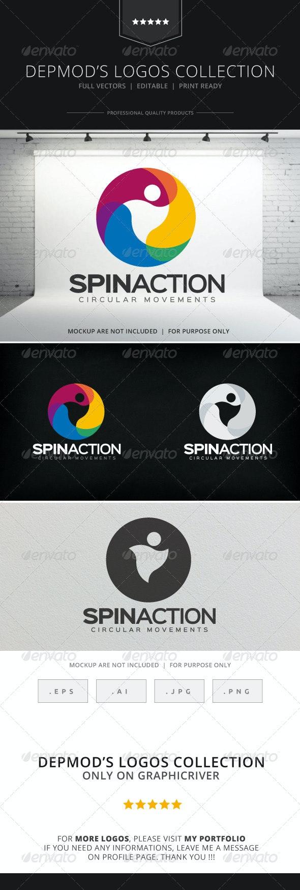 Spin Action Logo - Symbols Logo Templates