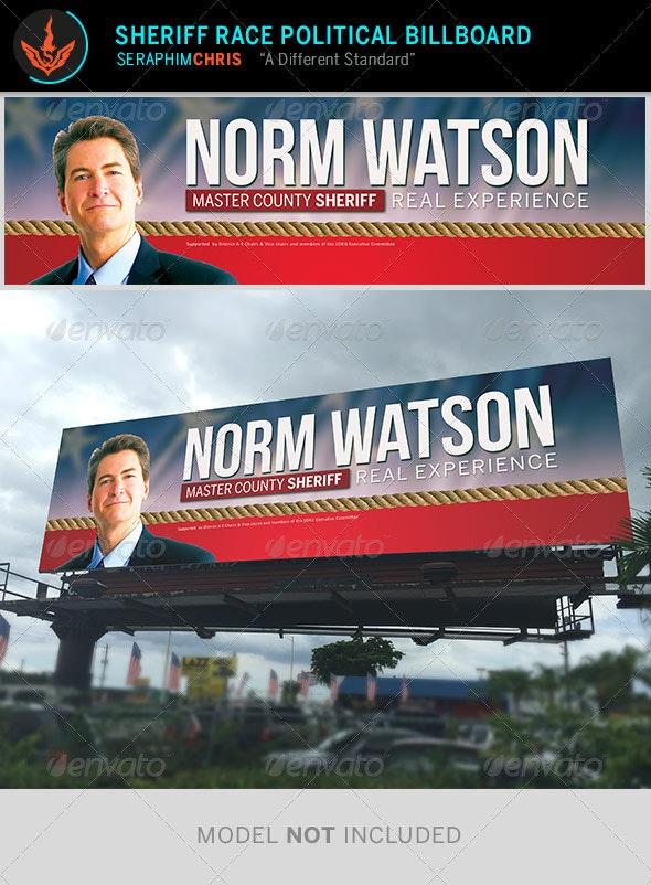 Sheriff Race - Political Billboard Template