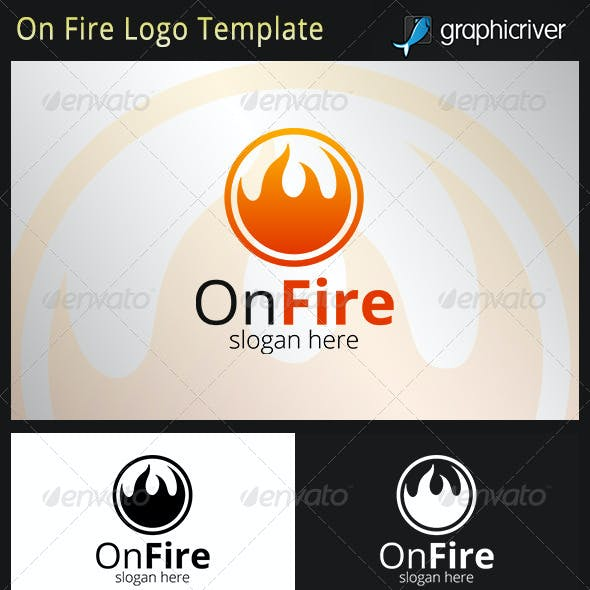 On Fire Logo Template
