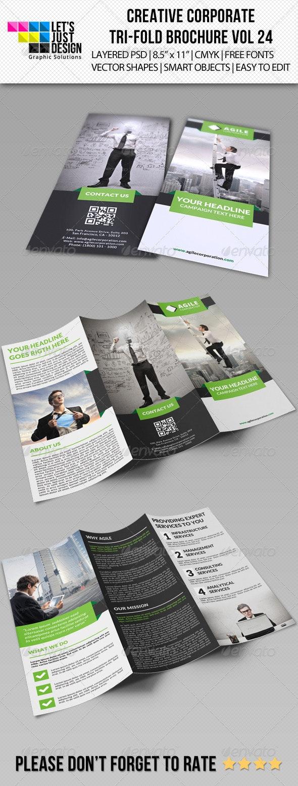 Creative Corporate Tri-Fold Brochure Vol 24 - Corporate Brochures