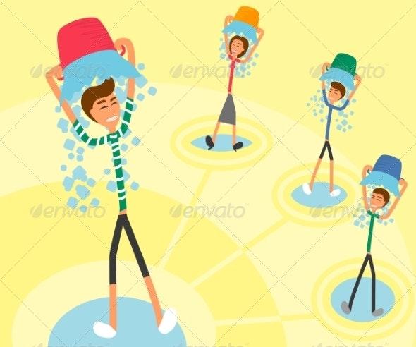 Ice Bucket Challenge - People Characters