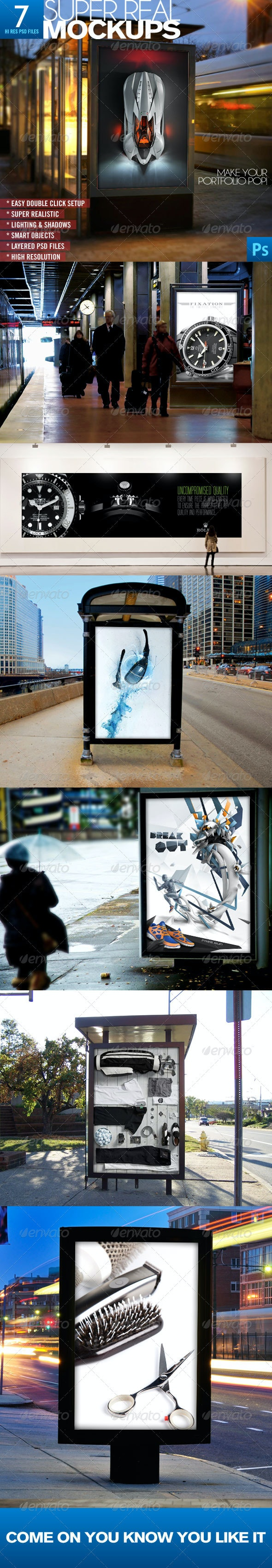 Advertising Mockups - Signage Print