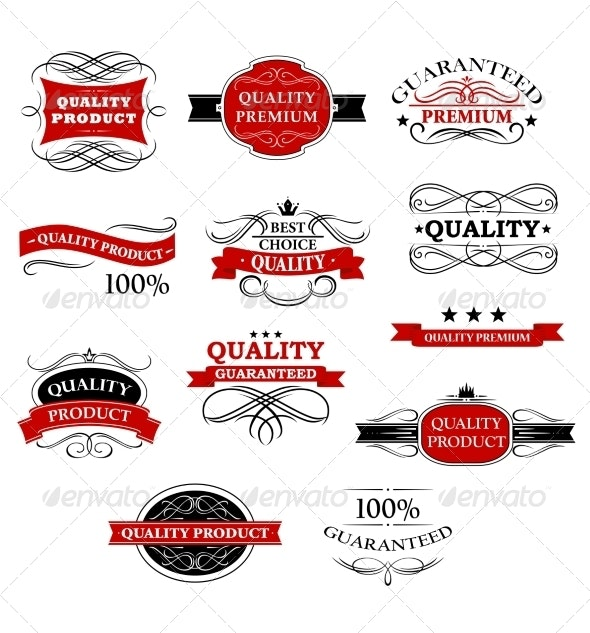 Product Banners and Labels - Borders Decorative