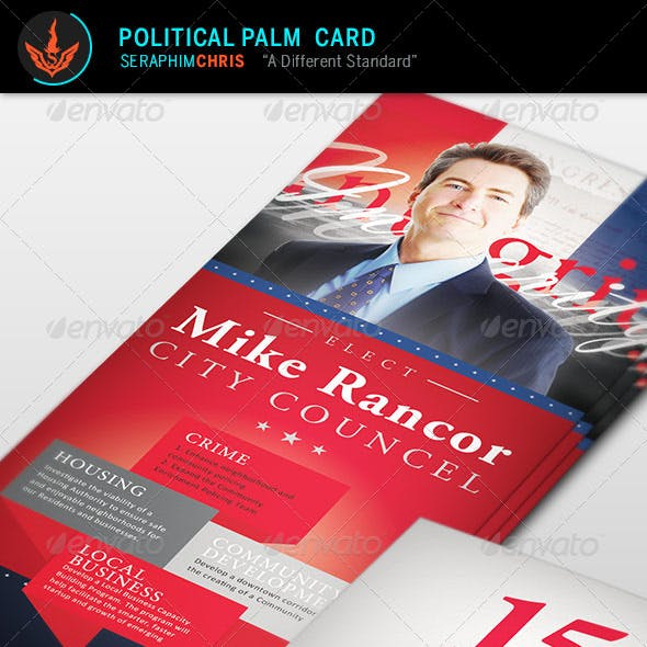 Political Palm Card Template 2