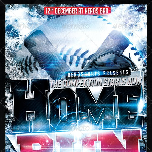 HomeRun Baseball Flyer