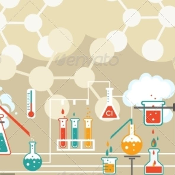 Chemistry Infographic Pattern