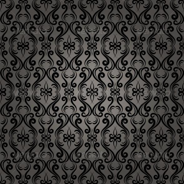 Damask Baroque Seamless Pattern Background - Patterns Decorative
