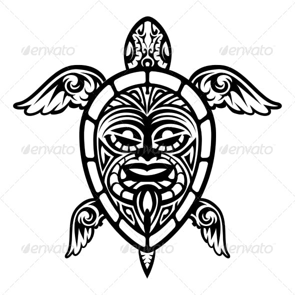 Vector Turtle Tattoo
