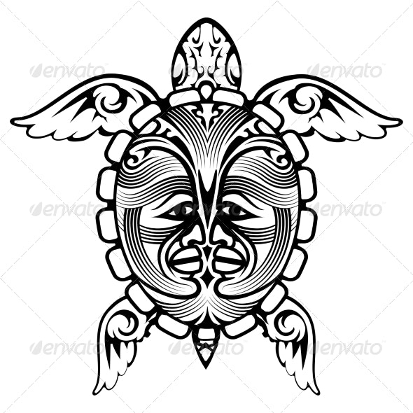 Tribal Turtle Tattoo - Tattoos Vectors