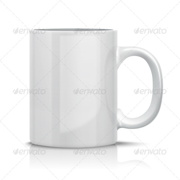 Classic White Cup - Man-made Objects Objects