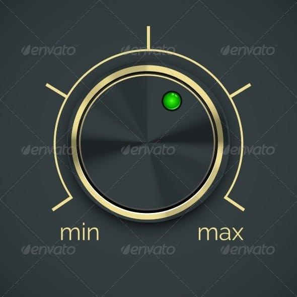 Vector Circular Metal Controller with Button