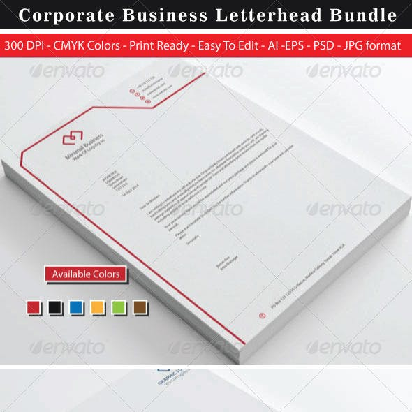 Minimal Corporate Business Letterhead Bundle