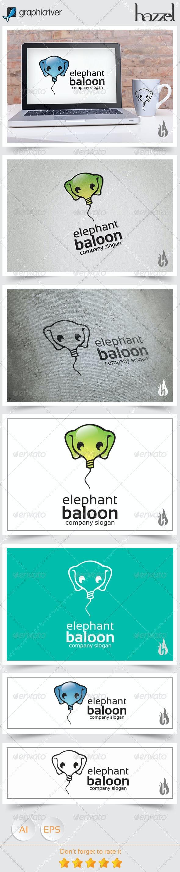 Elephant Baloon Logo - Objects Logo Templates