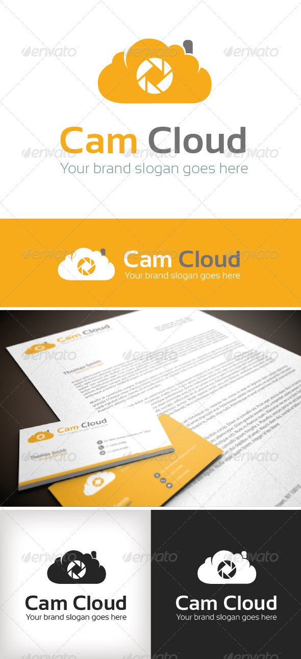 Cam Cloud Logo Template - Objects Logo Templates