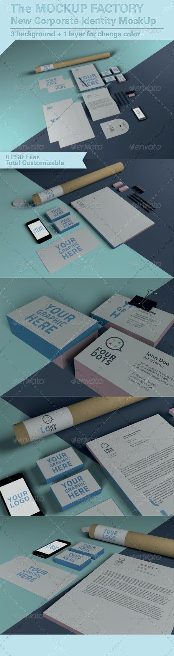 Photorealistic Brand Identity MockUp - Stationery Print