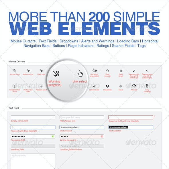 Simple 200 Web Elements