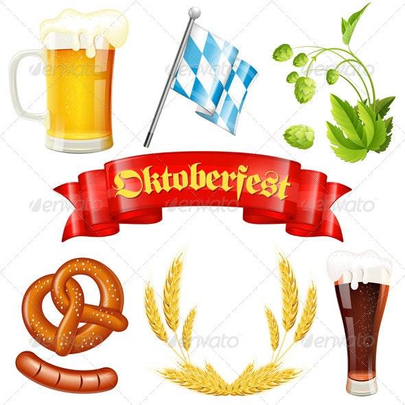 Oktoberfest Icons - Miscellaneous Seasons/Holidays