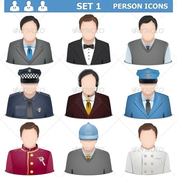 Vector Person Icons Set 1 - People Characters