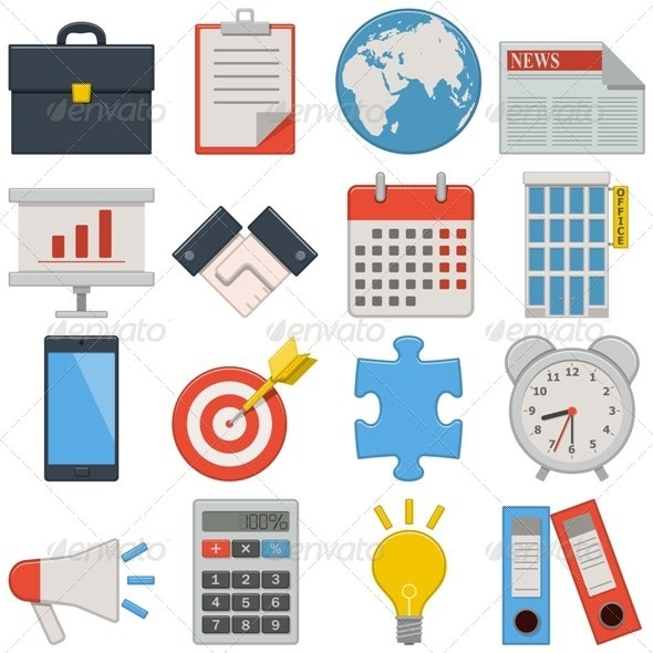 Vector Flat Icons - Business - Business Conceptual