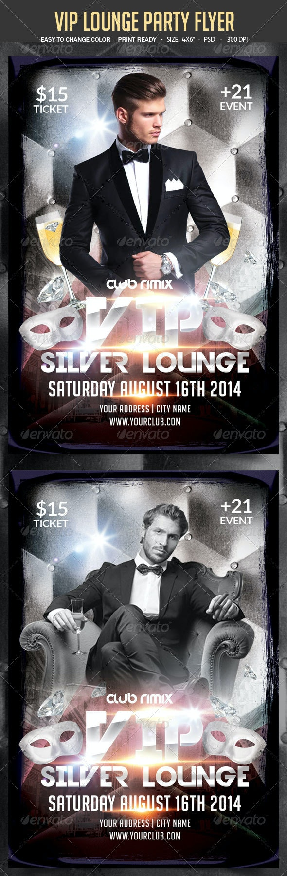 VIP Silver Lounge - Events Flyers