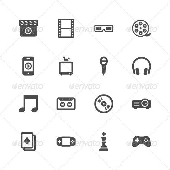 Entertainment Icons - Miscellaneous Icons