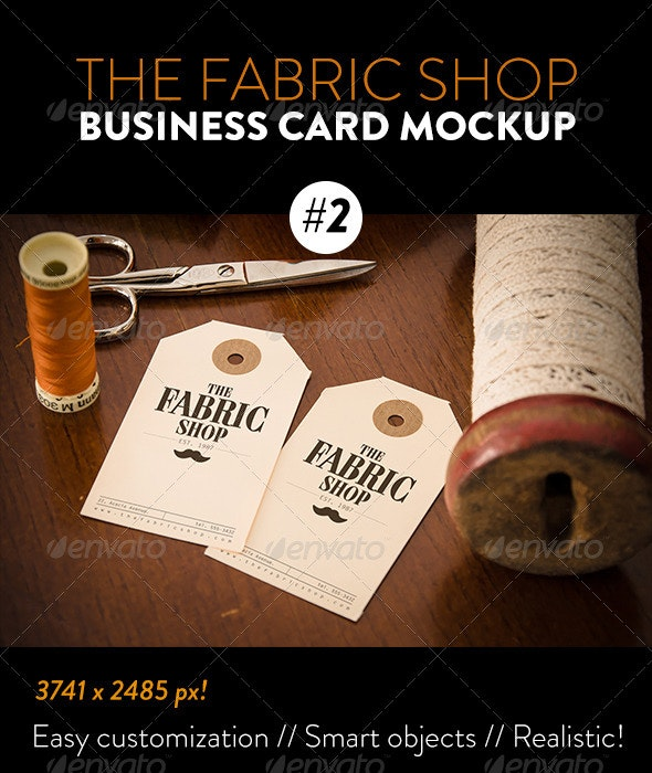 The Fabric Shop Product Label #1 Mockup - Miscellaneous Packaging