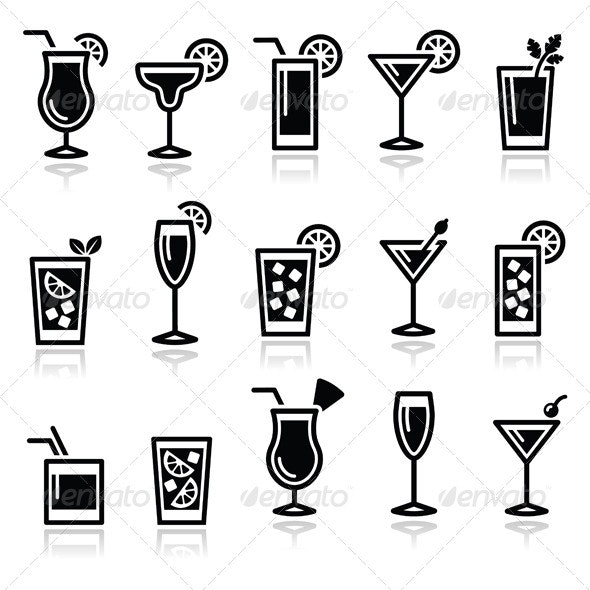 Drinks Icon Set  - Food Objects