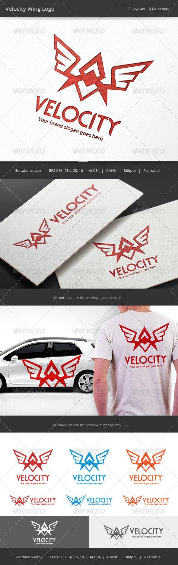 Velocity Wing Logo - Vector Abstract