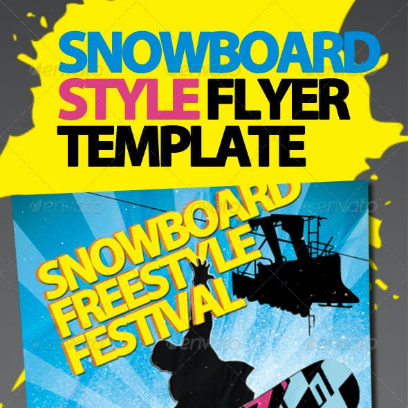 Snowboard Style Flyer Template