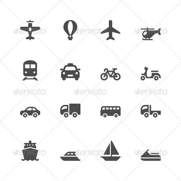 Transportation Icons - Miscellaneous Icons