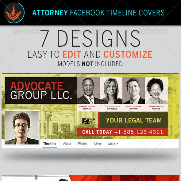 Attorney Facebook Timeline Cover Templates