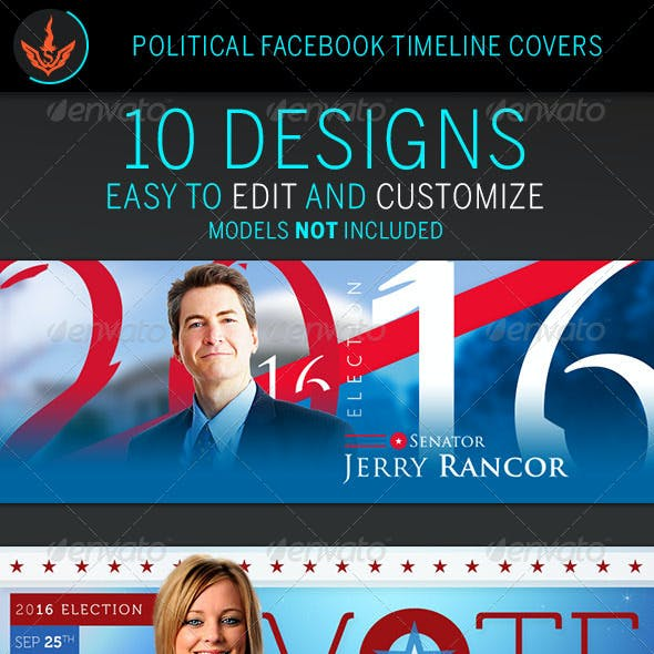 Political Facebook Timeline Cover Templates