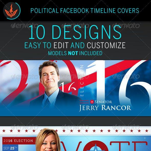 Political Facebook Timeline Cover Templates