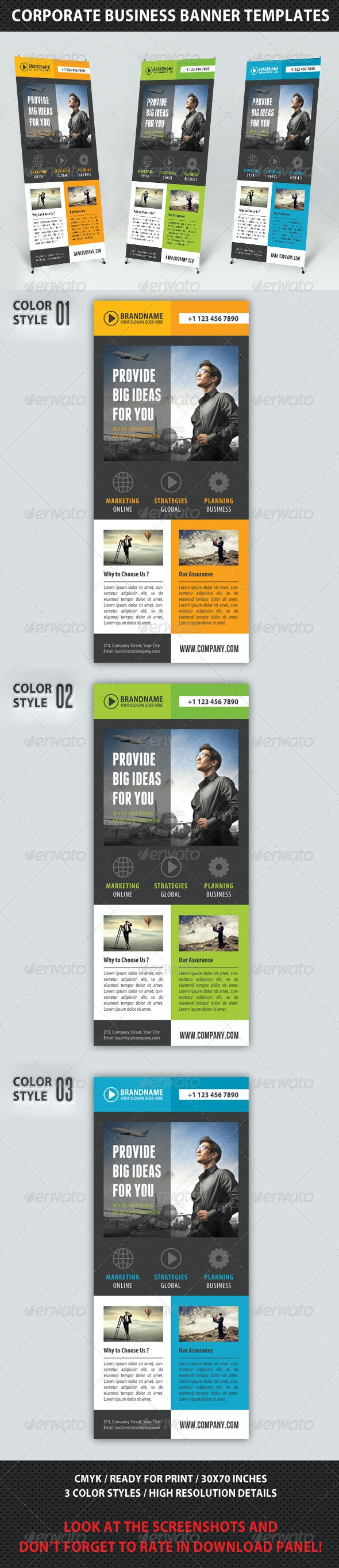 Corporate Multipurpose Banner Template 68 - Signage Print Templates