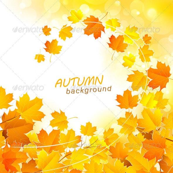 Autumn Leaf Fall Background - Seasons Nature